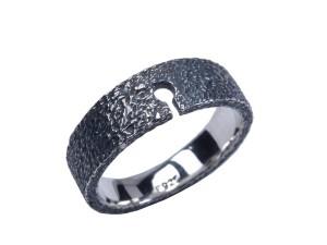 omega basis ring sølv sølvring omegabasis basisring omegaring oxyderet rustik