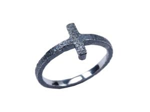 sølvring sølv ring oxyderet rustik lækker kvalitet håndlavet