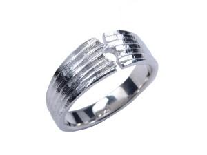 omega basis håndlavet sølv struktur ring sølvring sammensæt alfa